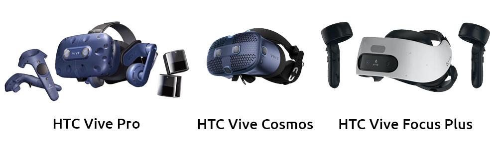 HTC Vive Pro, HTC Vive Cosmos & HTC Vive Focus Plus